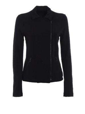 Majestic Filatures: Felpe e maglie - Giacca con zip asimmetrica in morbido jersey
