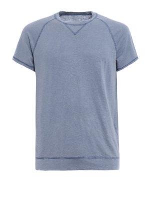 Majestic Filatures: t-shirts - Hand dyed linen blend T-shirt