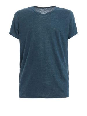 Majestic Filatures: t-shirts - Linen and silk T-shirt