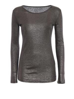 Majestic Filatures: t-shirts - Metallic jersey T-shirt