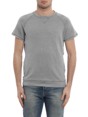 Majestic Filatures: t-shirts online - Hand dyed linen blend T-shirt