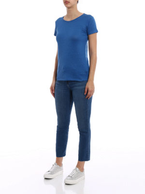 Majestic Filatures: t-shirts online - Linen blend classic T-shirt