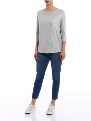 Majestic Filatures: t-shirts online - Shiny viscose blend T-shirt