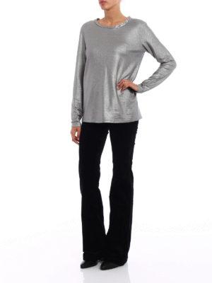 Majestic Filatures: t-shirts online - Soft glitter jersey T-shirt
