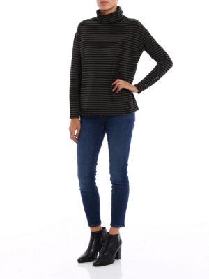 Majestic Filatures: t-shirts online - Striped fleece jersey T-shirt