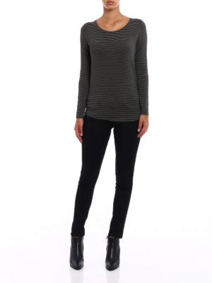 Majestic Filatures: t-shirts online - Striped jersey long sleeved T-shirt