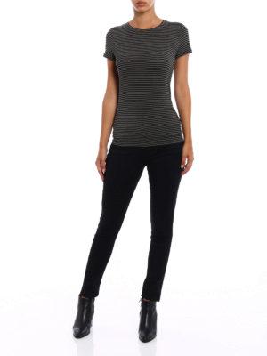 Majestic Filatures: t-shirts online - Striped viscose jersey T-shirt