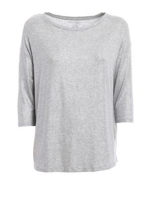 Majestic Filatures: t-shirts - Shiny viscose blend T-shirt