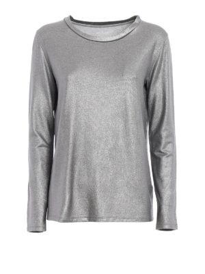 Majestic Filatures: t-shirts - Soft glitter jersey T-shirt