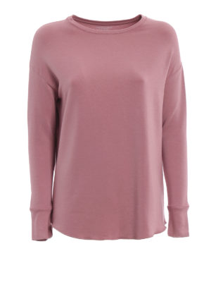 Majestic Filatures: t-shirt - T-shirt rosa antico in jersey di viscosa