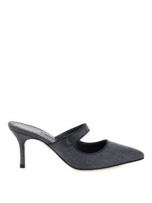 MANOLO BLAHNIK: mules shoes - Camparimu wool mules
