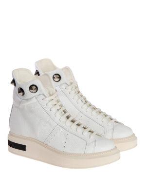 Manuel Barcelo': ankle boots online - Konrad white studded ankle boots