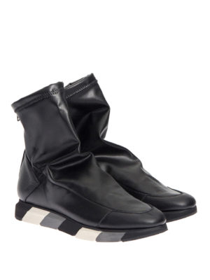 Manuel Barcelo': ankle boots online - Stretch faux leather zipped booties