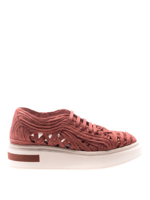 Manuel Barcelo': trainers - Lane lace red sneakers