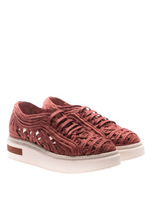 Manuel Barcelo': trainers online - Lane lace red sneakers