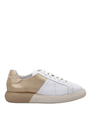 Manuel Barcelo': trainers - Two-tone leather sneakers
