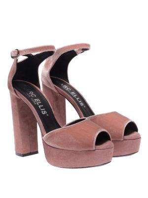 MARC ELLIS: sandali online - Sandali a punta aperta rosa velluto e suede
