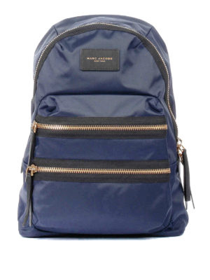 Marc Jacobs: backpacks - Biker blue nylon backpack