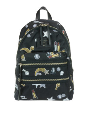 Marc Jacobs: backpacks - Biker printed backpack