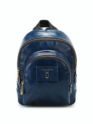 Marc Jacobs: backpacks - Crackle blue leather mini backpack