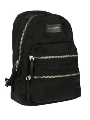 Marc Jacobs: backpacks online - Nylon backpack with outer pockets