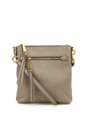 Marc Jacobs: cross body bags - Hammered leather cross body bag