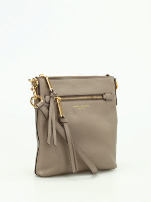 Marc Jacobs: cross body bags online - Hammered leather cross body bag