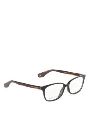 Marc Jacobs: glasses - Black acetate squared glasses