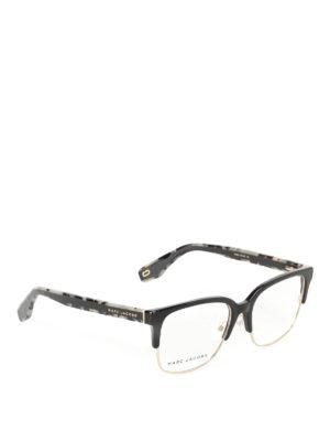 Marc Jacobs: glasses - Black and gold half frame glasses