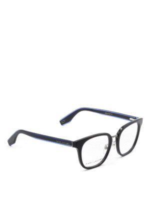 Marc Jacobs: glasses - Blue acetate square eyeglasses