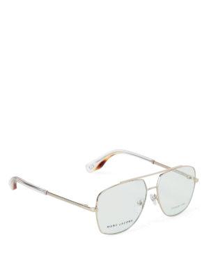 Marc Jacobs: glasses - Light Gold frame aviator glasses