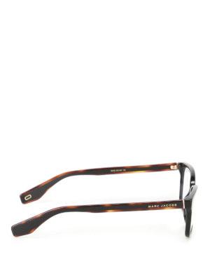Marc Jacobs: glasses online - Black acetate squared glasses