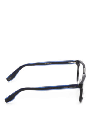 Marc Jacobs: glasses online - Blue acetate square eyeglasses