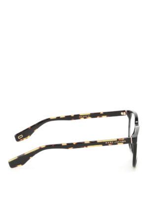 Marc Jacobs: glasses online - Tortoise arms black eyeglasses