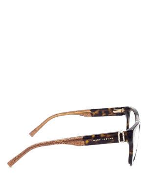 Marc Jacobs: glasses online - Tortoiseshell squared eyeglasses