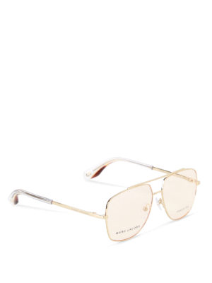 Marc Jacobs: glasses - Stainless steel aviator eyeglasses