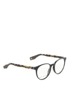 Marc Jacobs: glasses - Tortoise arms black eyeglasses