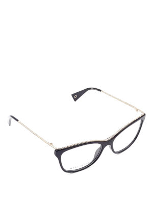 Marc Jacobs: glasses - Woven detail eyeglasses