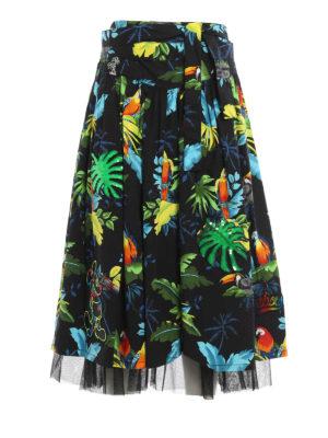 Marc Jacobs: Knee length skirts & Midi - Tropical paradise cotton skirt