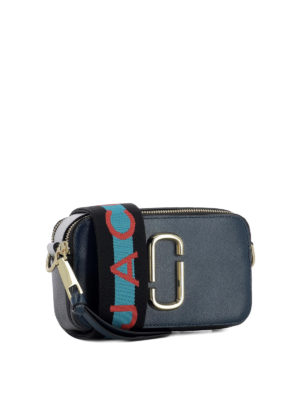 MARC JACOBS: borse a tracolla online - Tracolla Snapshot piccola in pelle blu