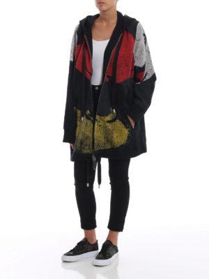 MARC JACOBS: Felpe e maglie online - Felpa over con stampe effetto consumato