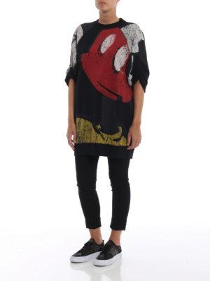 MARC JACOBS: Felpe e maglie online - Felpa lunga con stampe effetto consumato