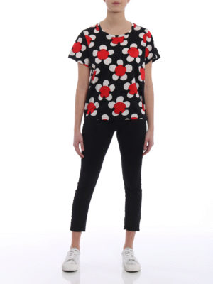 MARC JACOBS: t-shirt online - T-shirt stampa fiori in jersey