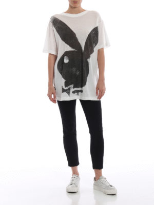 MARC JACOBS: t-shirt online - T-shirt in jersey leggero con stampa Playboy