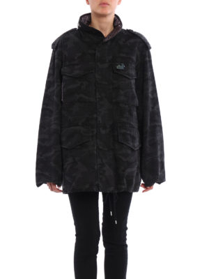 Marc Jacobs: parkas online - Camouflage cotton canvas parka