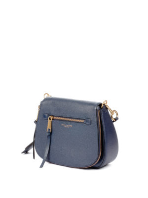 Marc Jacobs: shoulder bags online - Recruit Nomad blue leather bag