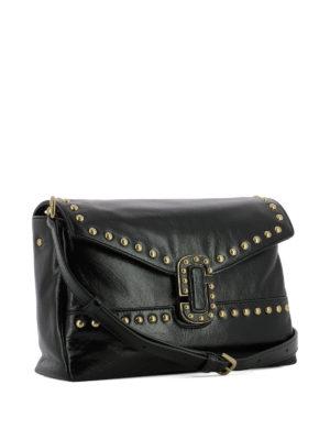 Marc Jacobs: shoulder bags online - Studded crackle leather messenger
