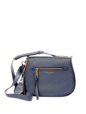 Marc Jacobs: shoulder bags - Recruit Nomad blue leather bag