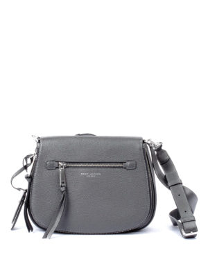 Marc Jacobs: shoulder bags - Recruit Nomad grey leather bag