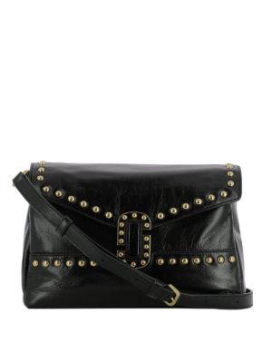 Marc Jacobs: shoulder bags - Studded crackle leather messenger